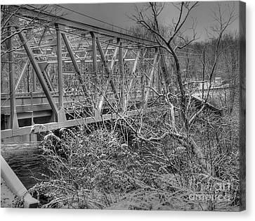 Winter Bridge Canvas Print by David Bearden