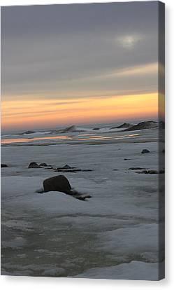 Winter Evening Lights Canvas Print