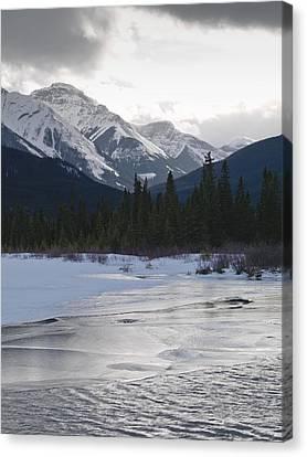 Winter Landscape, Banff National Park Canvas Print by Keith Levit