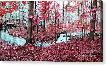 Winter On Its Way Canvas Print by Gina Signore