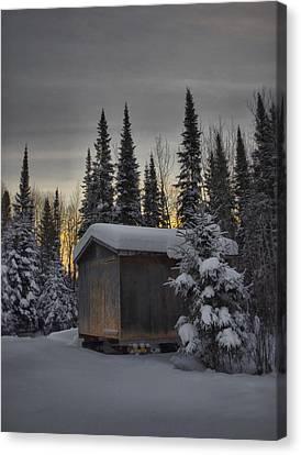 Winter Solitude Canvas Print by Heather  Rivet