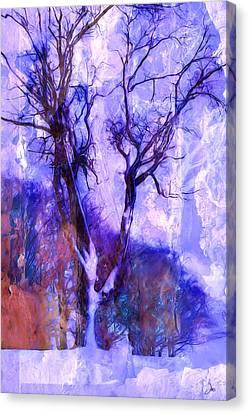 Winter Tree Canvas Print by Ron Jones
