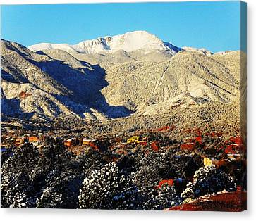 Canvas Print featuring the photograph Wintery Colorado Morning by Clarice  Lakota