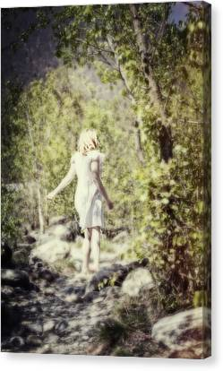 Woman In A Forest Canvas Print by Joana Kruse