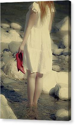 Woman In A River Canvas Print by Joana Kruse
