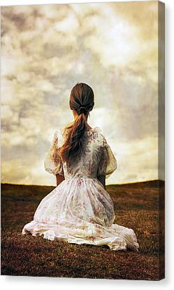 Woman On A Meadow Canvas Print by Joana Kruse
