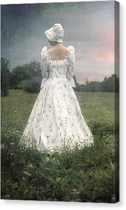 Woman With Bonnet Canvas Print by Joana Kruse