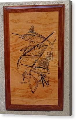 Vikings Canvas Print - Wood Work Furniture by Carey Chen