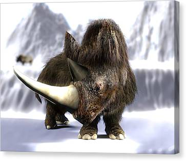 Woolly Rhinoceros Canvas Print