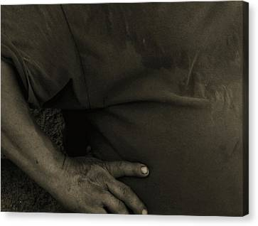 Canvas Print featuring the photograph Working Man by Lin Haring