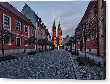 Wroclaw Cathedral Canvas Print by Sebastian Musial