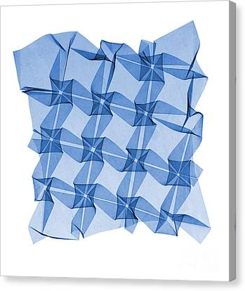 X-ray Of Mathematical Origami Canvas Print by Ted Kinsman