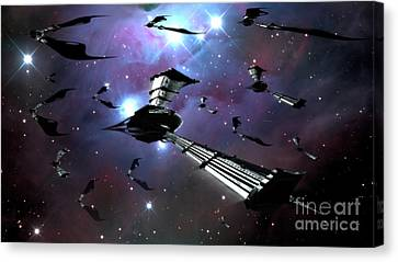 Xeelee Nightfighters, Inspired Canvas Print by Rhys Taylor