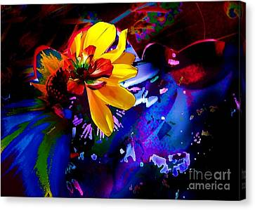 Yellow Flower Canvas Print by Doris Wood