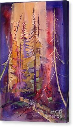 Yellowstone Fire Canvas Print by Pati Pelz