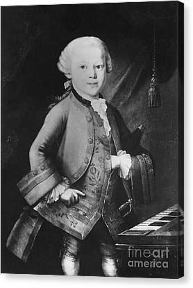 Young Wolfgang Amadeus Mozart, Austrian Canvas Print