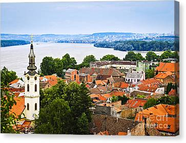 Zemun Rooftops In Belgrade Canvas Print by Elena Elisseeva
