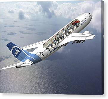 Zero-g Airbus Aircraft, Artwork Canvas Print by David Ducros