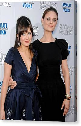 Zooey Deschanel, Emily Deschanel Canvas Print by Everett