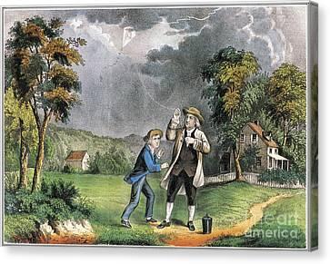 Benjamin Franklin American Polymath Canvas Print by Science Source