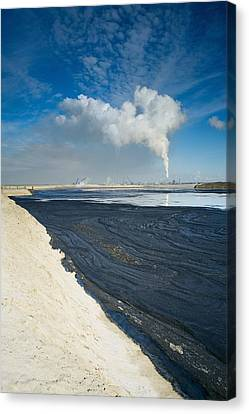 Oil Industry Pollution Canvas Print by David Nunuk