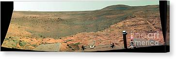 Panoramic View Of Mars Canvas Print by Stocktrek Images