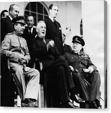 President Franklin D. Roosevelt Front Canvas Print by Everett