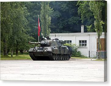 The Leopard 1a5 Of The Belgian Army Canvas Print by Luc De Jaeger