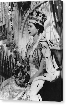 British Royalty. Queen Elizabeth II Canvas Print by Everett