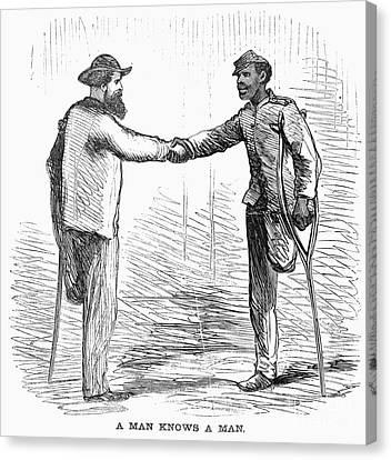 Civil War: Black Troops Canvas Print by Granger