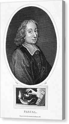 Blaise Pascal (1623-1662) Canvas Print by Granger