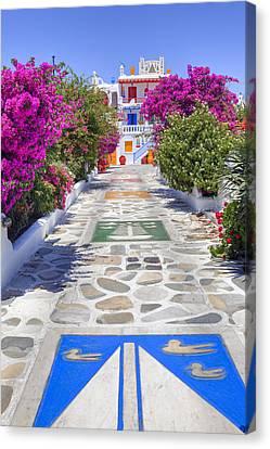Villa Canvas Print - Mykonos by Joana Kruse