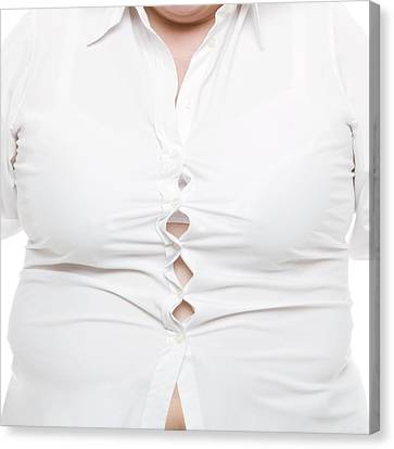 Overweight Woman Canvas Print by