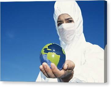 Protective Clothing Canvas Print
