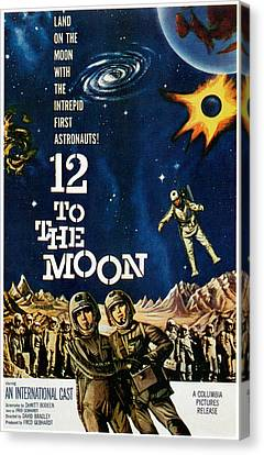 12 To The Moon, 1960 Canvas Print by Everett