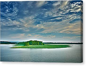 1206-9119 Arkansas River At Spadra Park  Canvas Print by Randy Forrester