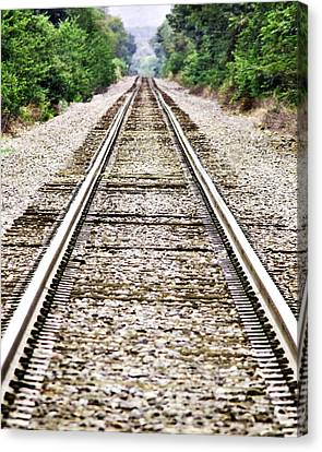 1207-9507 Train Tracks At Knoxville Canvas Print by Randy Forrester