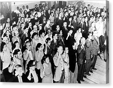 126 Japanese Nationals Take Their Oath Canvas Print by Everett