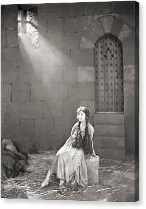 Silent Film Still: Woman Canvas Print by Granger