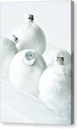 Christmas Ornaments Canvas Print by HD Connelly