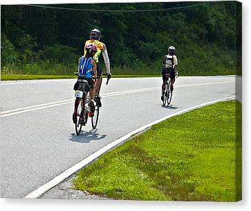 Bicycle Ride Across Georgia Canvas Print by Susan Leggett