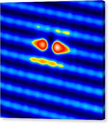 Spintronics Research, Stm Canvas Print by Drs A. Yazdani & D.j. Hornbaker