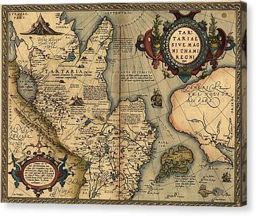 1570 Map Of Tartaria Spanning All Canvas Print by Everett