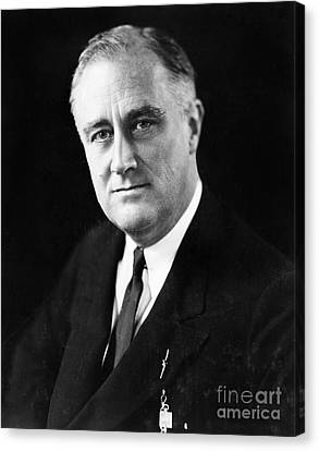Democrats Canvas Print - Franklin Delano Roosevelt by Granger