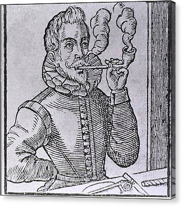 16th Century Dutchman Smoking Canvas Print by Everett