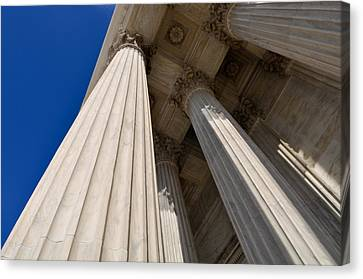 Pillars Of Law And Justice Canvas Print