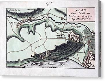 1770 Maastricht Mosasaur Canvas Print by Paul D Stewart