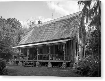 1850's Florida Cracker Farmhouse Canvas Print by Lynn Palmer