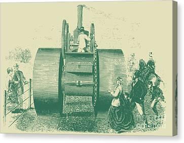1866 Steam Road Roller Canvas Print