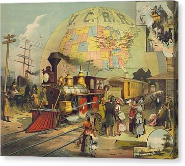 1882 Poster For The Illinois Central Canvas Print by Everett